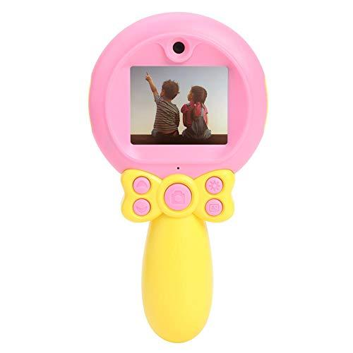 RUIE Niños Cámara, 32G Memoria Digital Cámaras, Lente Dual SLR Cámara Regalos de Cumpleanos 4-12 años Bebé Vídeo Grabadora 1080P GC0308 2 Pulgadas Color Monitor