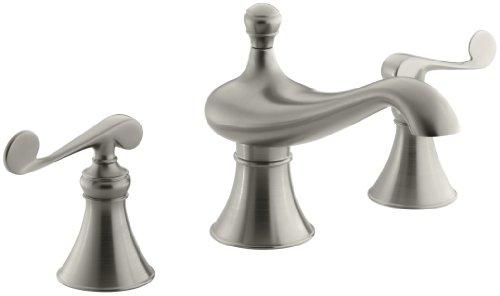KOHLER K-T16122-4-BN Revival Bath-Mount High-Flow Bath Faucet Trim, Vibrant Brushed Nickel