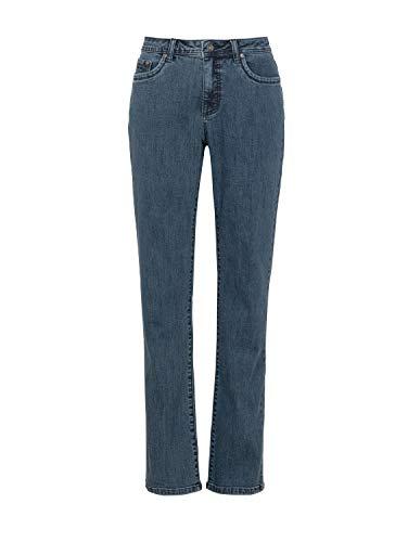 Million X Damen Jeans New Linda Basic W40 L30, mid Stone Denim