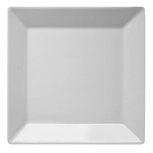 Assiette en porcelaine SATURNIA KIMI carrée portée 30 cm