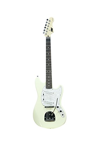 ivy 6 String Solid-Body Electric Guitar, Right, Vintage White, 41.73 x 16.54 x 3.15 inches (ISMF-200 VW)