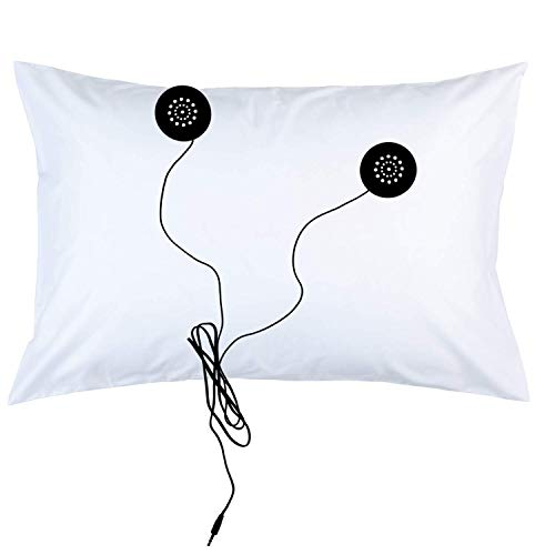 IntelliSOUND Large Light Travel Smart Pillow w/Two Removable Speakers Soft Hypoallergenic 100% Polyester Large Travel Size 23 x 17 Inches