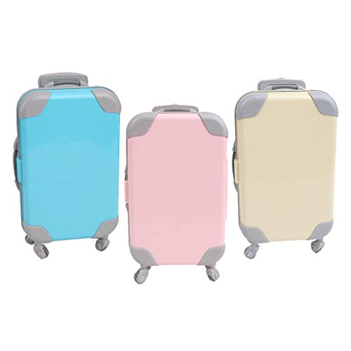 3 Pieces Fashion Doll Suitcase Travel Luggage for 18' Baby Doll Accessory