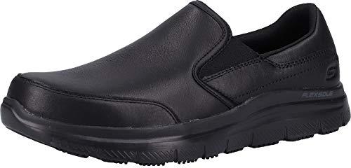 Skechers Flex Advantage Sr-Bronwood, Zapatillas sin Cordones Hombre, Negro (BLK Black Leather), 43 EU