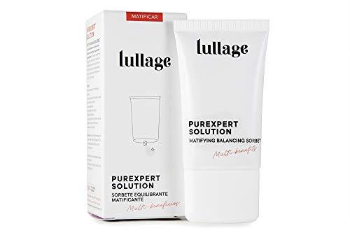 LULLAGE Sorbete Hidratante y Equilibrante   Crema Matificante Piel Mixta - Grasa, 40 ml   Tratamiento Multi-beneficios VEGANO y Natural   Purifica y Controla el Brillo en la Piel, Purexpert Solution