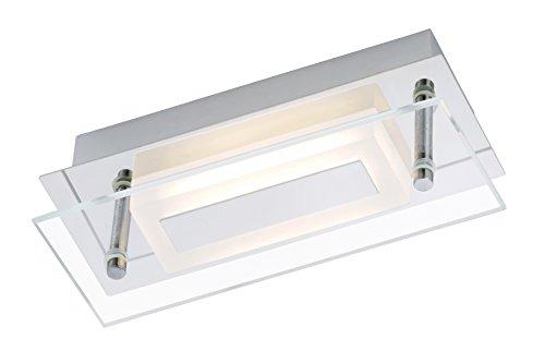 Briloner Leuchten LED Wandleuchte, Deckenlampe, Deckenleuchte 1 x 6 W, 500 lm, Badezimmer/Bad geeignet IP44, chrom, 2262-018 [Energieklasse A+]