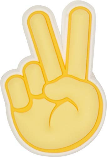 Crocs Jibbitz Symbols Shoe Charm, Peace Hand Sign, Small