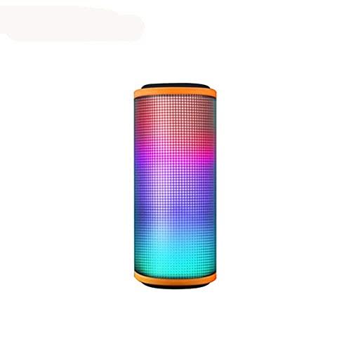 GPWDSN Tragbarer Outdoor-Bluetooth-Lautsprecher, kabelloser Lautsprecher mit LED-Licht Bunter Subwoofer wasserdichter Player Stereo-Bass-Lautsprecher für Zuhause, Sport