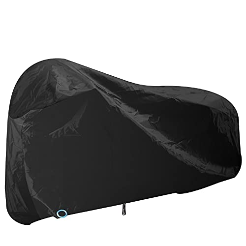 Baogaier Bike Cover Waterproof Indoor Outdoor Storage 210D Universal Bicycle Cover Rainproof Anti UV Scratch Dust Heavy Duty Tarpaulin with Lock-holes for Mountain Bike Road Bike up to 2 - XL Black