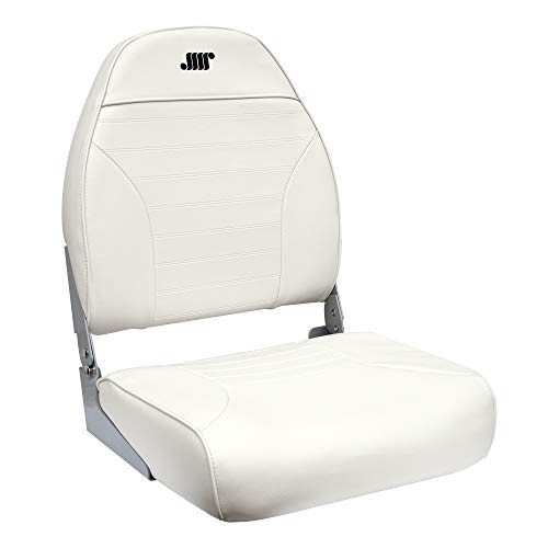 Standard High Back Seat, White - Wise 8WD588PLS-710