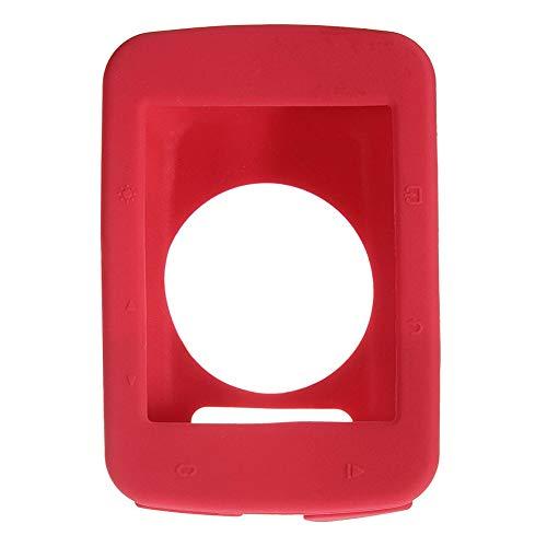 BIKECO Garmin Edge 520 Funda, a prueba de polvo, resistente a los golpes, funda protectora de silicona para Garmin 520 (rojo)