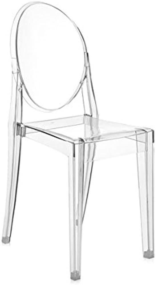 Kartell, victoria ghost,sedia in policarbonato 04856/B4