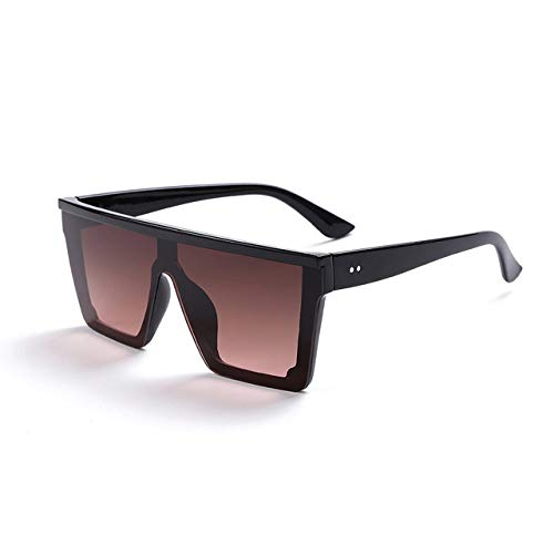 PSSYXT Gafas de sol Sunglasses 2020 Oversized Sunglasses Women Big Frame Square Gradient Lens Sun Glasses Female Men Vintage Mirror Shades,9 sunglasses