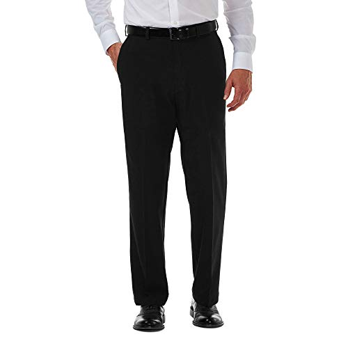 Van Heusen Men's Traveler Slim Fit Pant, Charcoal, 38W X 30L