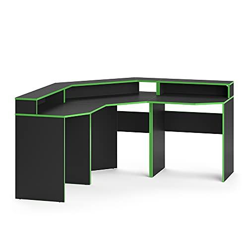 Vicco Gaming Desk Schreibtisch Kron Gamer PC Tisch Computertisch Bürotisch Set (Computertisch Set 1)