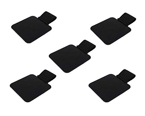 SaPeal 5pcs Self-Adhesive Leather Pen Holder with Elastic Loop for Notebooks, Journals, Planners and Calendars