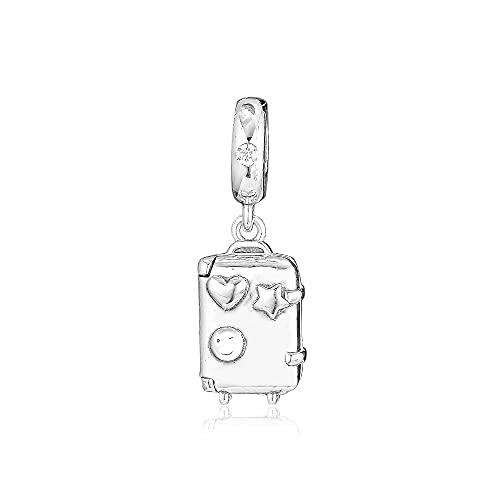 Ciondolo da donna in argento sterling 925 Pandora Bead Bracciale gioielli ciondoli valigia per fare adatto regalo originale Kralen Berloque Perles