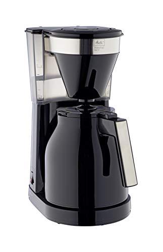 Melitta 1023-08 EasyTop Therm Filterkaffeemaschine, Edelstahl, Kunststoff schwarz