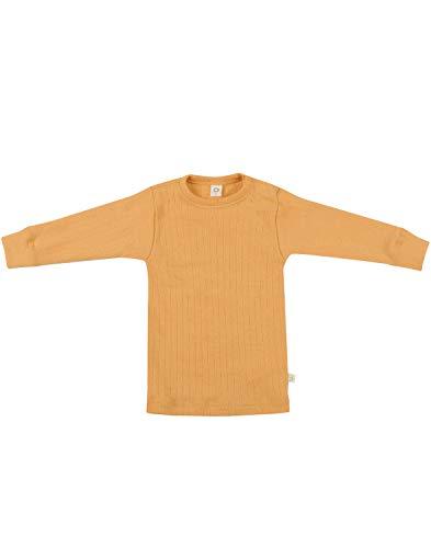 Dilling Baby Pullover in breitem Rippstrick aus 100% Bio-Merinowolle Gelb 92