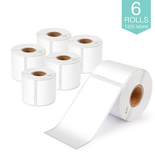 """Markurlife Compatible Label Replacement for Dymo 30323 Label 2 1/8"""" x 4"""" LabelWriter Adhesive Shipping Label 54mm x 102mm, Work with Dymo 450 Printer, 450 Turbo, 450 Twin Turbo, 450 Duo, 4XL, 6 Roll"""
