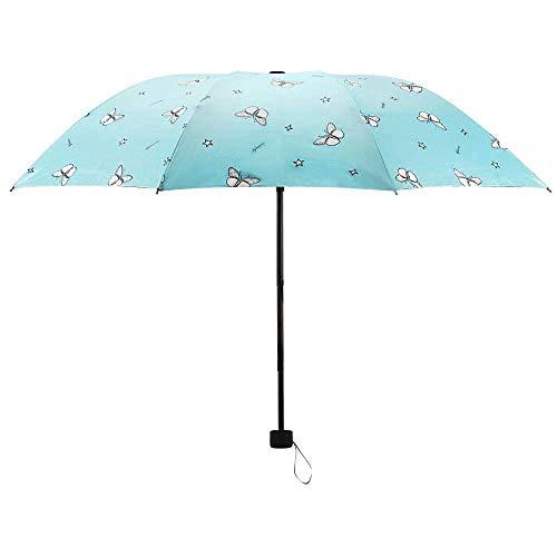 Niedlicher Regenschirm, Mini-Reise-Automatischer Winddichter Regenschirm, 2019, klein, leicht, faltbar, für Damen, Herren, Kinder, Marineblau