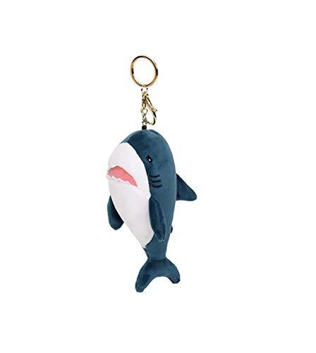 Peluche tiburón llavero figura peluche 15 cm azul | mar | juguete | regalo | niños | niña | niño | marítimo | océano | tiburón blanco |