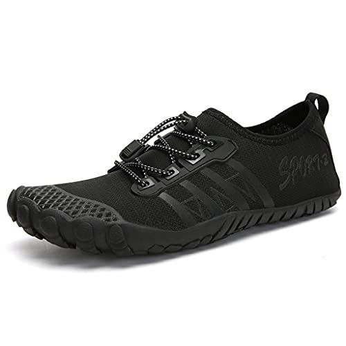 YQQMC Calcetines de agua suaves y de secado rápido para hombre, zapatos de agua transpirables (color: negro, tamaño: 42EU)