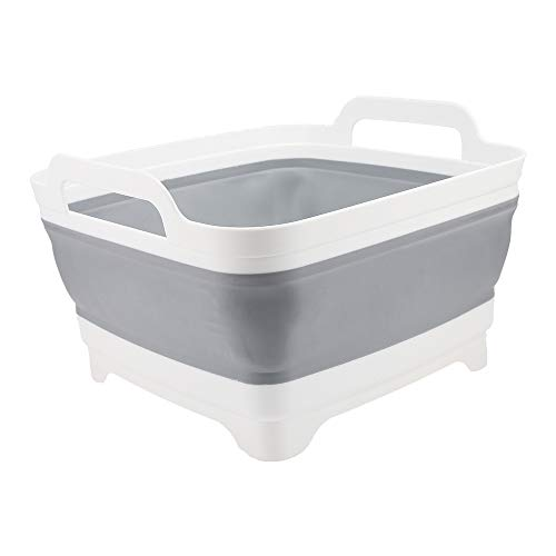 Cubo de lavabo portátil plegable y ligero para camping