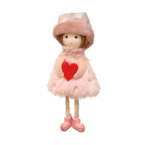 Amosfun Hanging Angels Decorations Hanging Plush Heart Plush Angel Plush Doll Toy Cute Desk Accessories for Holiday Party Garden Decoration