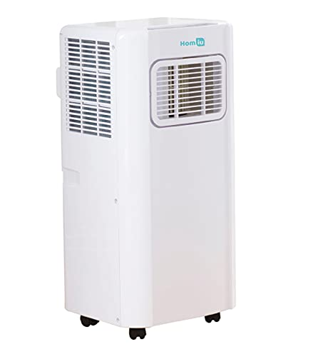 Homiu Air Conditioner 7000/9000 BTU with Remote Control 24 hr Timer and 3 Mode Functions and 2 Speed Functions Class A Energy Efficiency (7000 BTU)