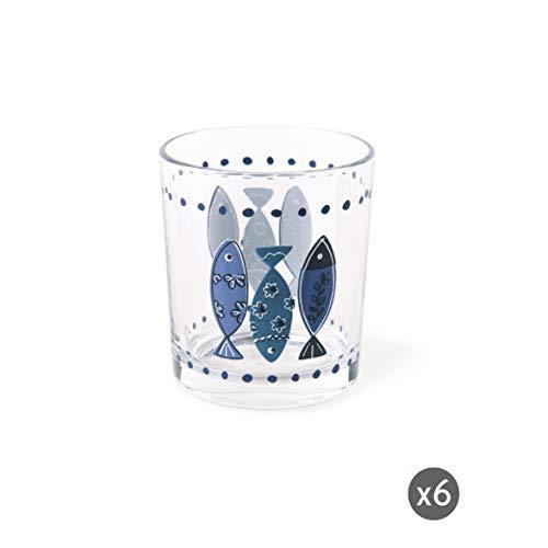 Excelsa Ocean Set Bicchieri Acqua, 6