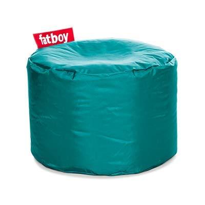 Fatboy® Point türkis Nylon-Hocker | Runder Sitzhocker | Trendiger Poef/Fußbank/Beistelltisch | 35 x ø 50 cm