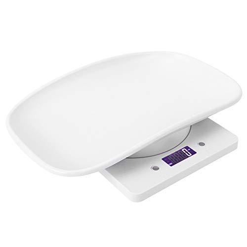 Agatige 10 kg/1 g Waage Digitales Gewicht, elektronische Haustierwaage mit Schüsselablage für Katzen Hunde Neugeborenes Baby (Batterie Nicht im Lieferumfang enthalten)