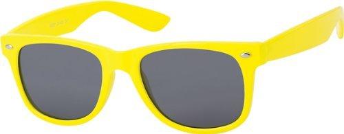 Subke 8044 Lunettes de soleil pour homme ou femme style rétro - Jaune - jaune - taille unique