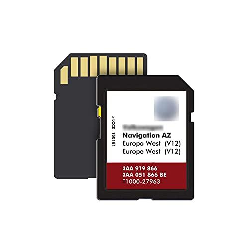 Tarjeta SD de navegación para V-W Se-at Sk-oda RNS315 V12 AZ Map G-PS SD Card West Europe Map Última actualización