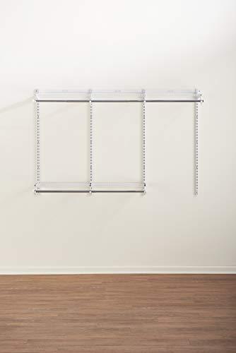 Rubbermaid Configurations Closet Organizer Kits Rubbermaid Closet system Closet Shelving amp Rods 36#039 White