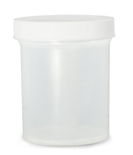 Qorpak PLC-03696 Polypropylene Jar with 53-400 White SturdeeSeal Polyethylene Foam Cap, Natural, 2oz Capacity, 52mm OD x 46mm Height (Case of 48)