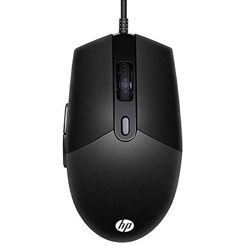 Mouse HP Gamer USB M260 Preto - Sensor Óptico Ambidestro Resoluções até 6400 DPI e Iluminação RGB - 7ZZ81AA