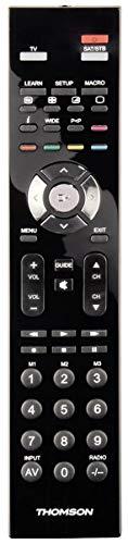 Thomson TV Universalfernbedienung 2 in 1, lernfähig, mit Makros (2 Geräte steuern, vorprogrammiert für alle gängigen Marken, Fernseher, Receiver, Set Top Box, Ersatzfernbedienung)