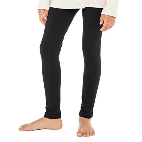 Celodoro Kinder Leggings, stretchige Jersey Hose aus Baumwolle - Schwarz 146-152