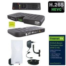 Skymaster DTR5000 DVB-T2 Freenet H.265 Irdeto HDTV Receiver inkl. Maximum DA-6100 DVB-T2 Außenantenne aktiv LTE Filter