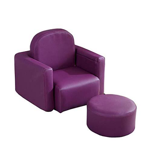 Xiaodengzi Table de lecture en cuir pour bébé en cuir pour enfant (Couleur : Purple)