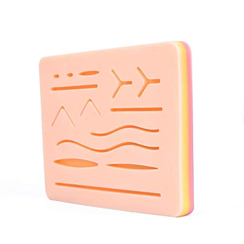 Upgraded Suture Practice 3 Layer 14 Wounds Pad with Protective Horizontal...