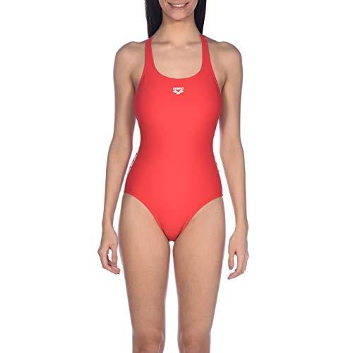 ARENA Bañador Deportivo para Mujer Team Fit, Mujer, Traje de baño de una Sola Pieza, 001610, Rojo, 42