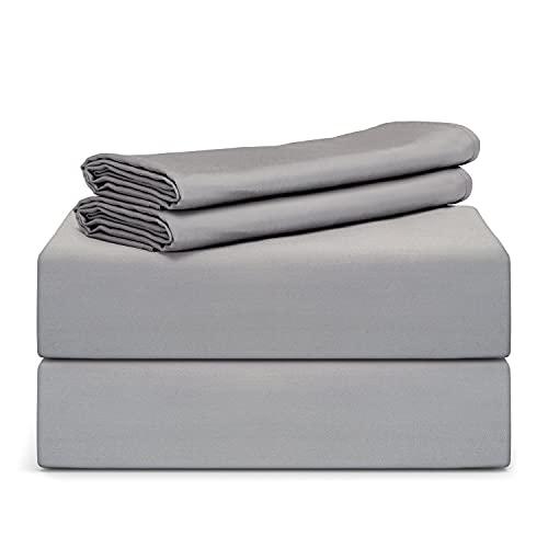 "TAFTS Bamboo Sheets Queen Size - 100% Pure Bamboo Viscose Sheet Set - 400TC Bamboo Bed Sheets - 4 Pieces - 17"" Deep Pocket - Silk Feel, Cooling,..."