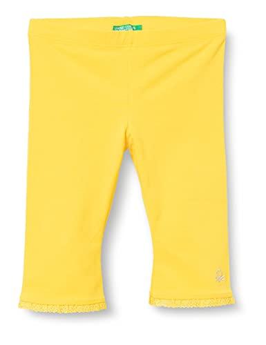 United Colors of Benetton (Z6ERJ Leggings 3MT1I0820, Giallo 3N7, 1Y Bimba