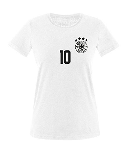 Luckja EM 2016 Deutschland Fanshirt Trikot M 06 Damen Rundhals T-Shirt