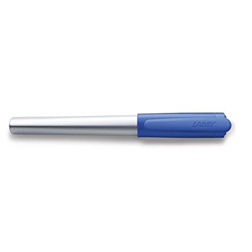 LAMY nexx Füllhalter 087 - Füller aus Aluminium in der Farbe Blau mit rutschfestem Griffstück und Stahlfeder - Federstärke M