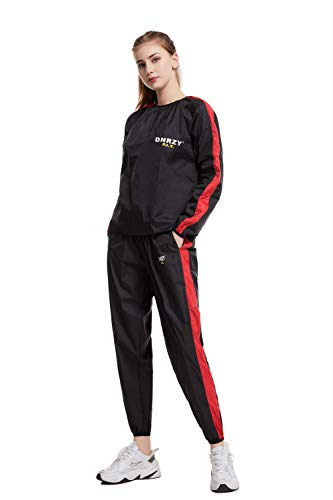 DNRZY F.I.T Long Sleeve Top and Bottom Full Body Workout Sweat Wear for Women and Men Durable and Fashionable Tracksuit Workout Clothes (XL)