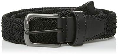 Nike Boys' Big Stretch Woven Belt, black, S